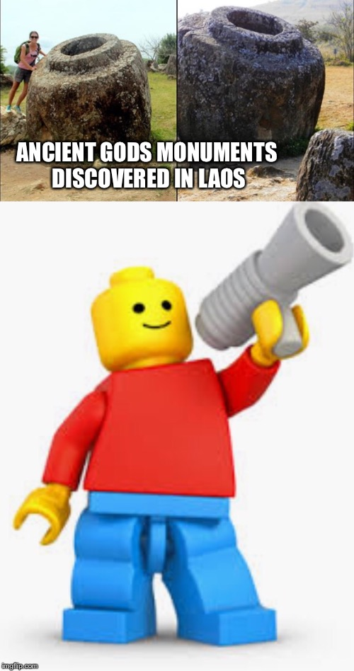 ANCIENT GODS MONUMENTS DISCOVERED IN LAOS | image tagged in memes,lego,god | made w/ Imgflip meme maker