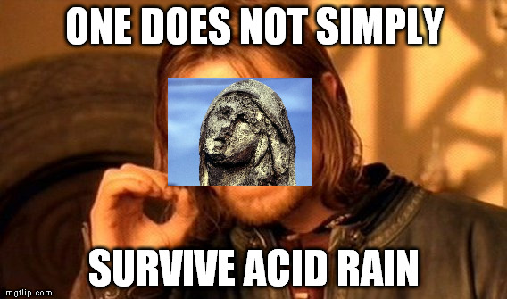 One Does Not Simply Meme | ONE DOES NOT SIMPLY SURVIVE ACID RAIN | image tagged in memes,one does not simply | made w/ Imgflip meme maker