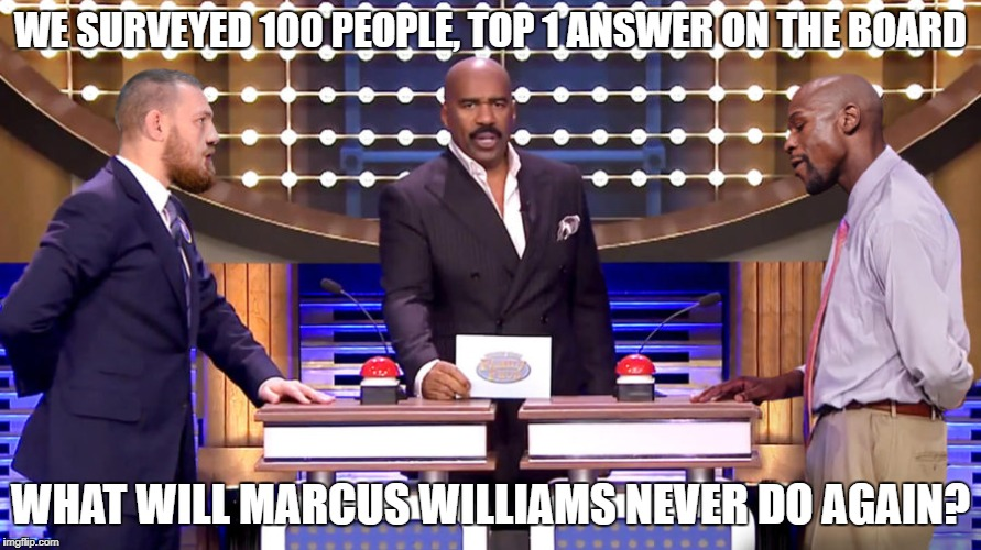 Family Feud Marcus Williams | WE SURVEYED 100 PEOPLE, TOP 1 ANSWER ON THE BOARD WHAT WILL MARCUS WILLIAMS NEVER DO AGAIN? | image tagged in nfl | made w/ Imgflip meme maker