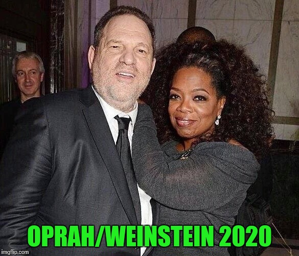 It could happen | OPRAH/WEINSTEIN 2020 | image tagged in oprah,weinstein,pipe_picasso,vote,president | made w/ Imgflip meme maker