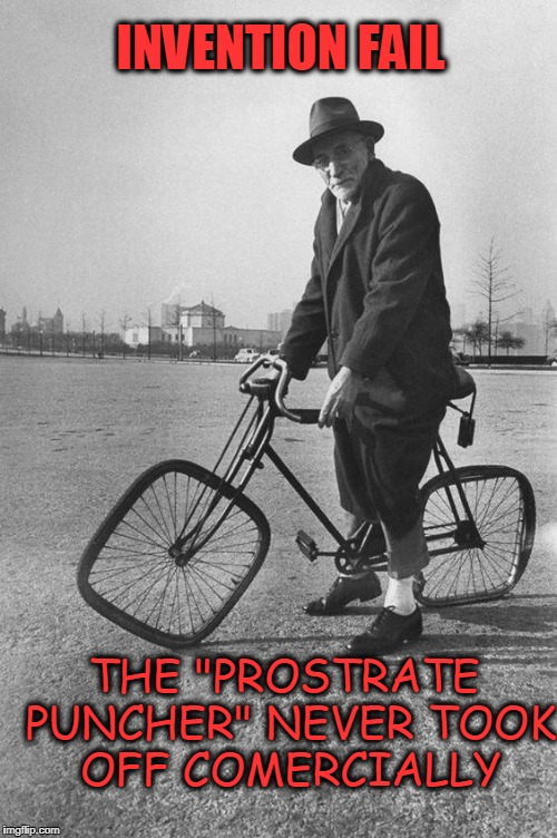 "Bike Fail | INVENTION FAIL THE ""PROSTRATE PUNCHER"" NEVER TOOK OFF COMERCIALLY 