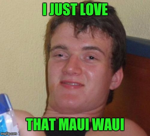 10 Guy Meme | I JUST LOVE THAT MAUI WAUI | image tagged in memes,10 guy | made w/ Imgflip meme maker
