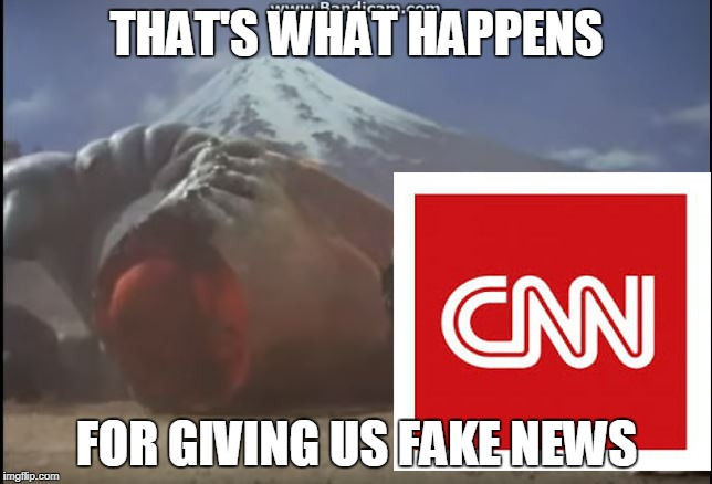 CNN Decapitated  | THAT'S WHAT HAPPENS FOR GIVING US FAKE NEWS | image tagged in fake news,cnn fake news,cnn sucks,ultraman ace,memes,meme | made w/ Imgflip meme maker