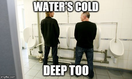 WATER'S COLD DEEP TOO | made w/ Imgflip meme maker