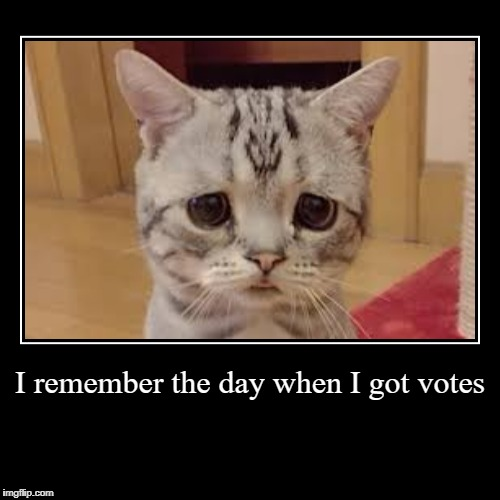 I remember the day when I got votes | | image tagged in funny,demotivationals | made w/ Imgflip demotivational maker