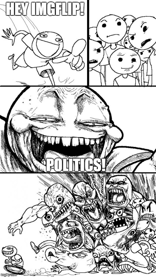 Some Days It Feels Like This | HEY IMGFLIP! POLITICS! | image tagged in memes,hey internet | made w/ Imgflip meme maker