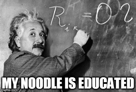Smart | MY NOODLE IS EDUCATED | image tagged in smart | made w/ Imgflip meme maker