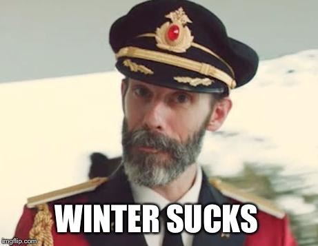 Captain Obvious | WINTER SUCKS | image tagged in captain obvious | made w/ Imgflip meme maker