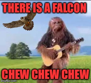 THERE IS A FALCON CHEW CHEW CHEW | made w/ Imgflip meme maker