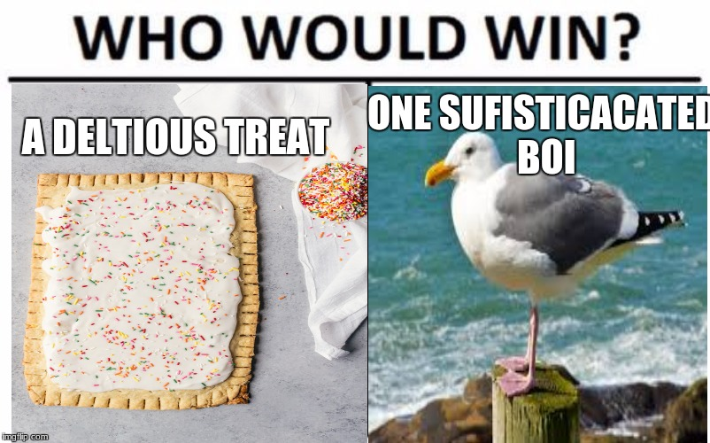 ONE SUFISTICACATED BOI A DELTIOUS TREAT | image tagged in meme | made w/ Imgflip meme maker