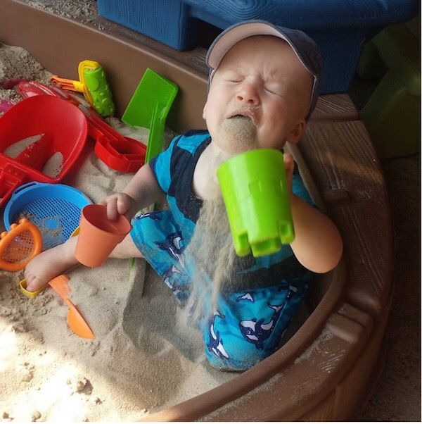 Baby Regrets Eating Sand Blank Template Imgflip
