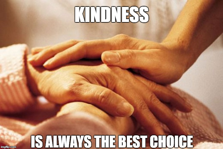 Caring Hands | KINDNESS IS ALWAYS THE BEST CHOICE | image tagged in caring hands | made w/ Imgflip meme maker