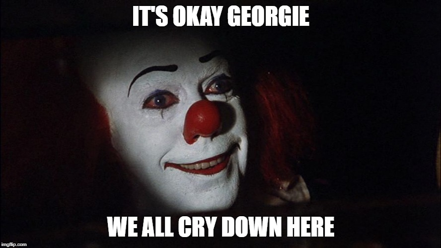 image tagged in stephen king it pennywise sewer tim curry we all