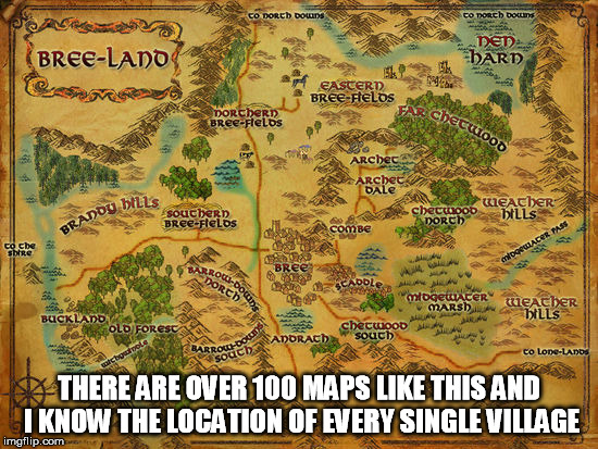 THERE ARE OVER 100 MAPS LIKE THIS AND I KNOW THE LOCATION OF EVERY SINGLE VILLAGE | made w/ Imgflip meme maker