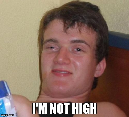 10 Guy Meme | I'M NOT HIGH | image tagged in memes,10 guy | made w/ Imgflip meme maker
