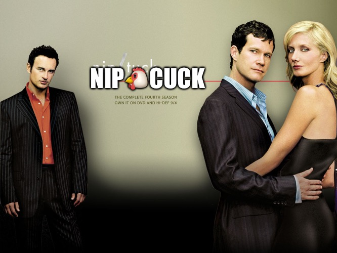 Nipcuck | NIP | image tagged in nip cuck,cuck,scumbag hollywood,misogyny,mgtow | made w/ Imgflip meme maker
