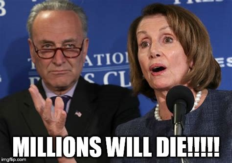 millions will die!! | MILLIONS WILL DIE!!!!! | image tagged in chuck schumer | made w/ Imgflip meme maker