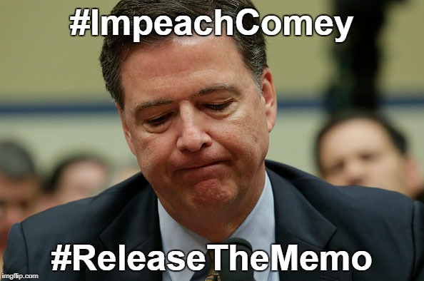 #ImpeachComey #ReleaseTheMemo | image tagged in james comey humiliated | made w/ Imgflip meme maker