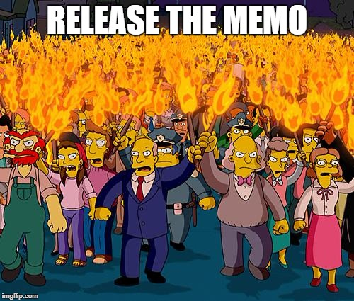 simpsons | RELEASE THE MEMO | image tagged in simpsons | made w/ Imgflip meme maker