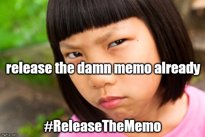 Angry Chinese Girl | release the damn memo already #ReleaseTheMemo | image tagged in angry chinese girl | made w/ Imgflip meme maker