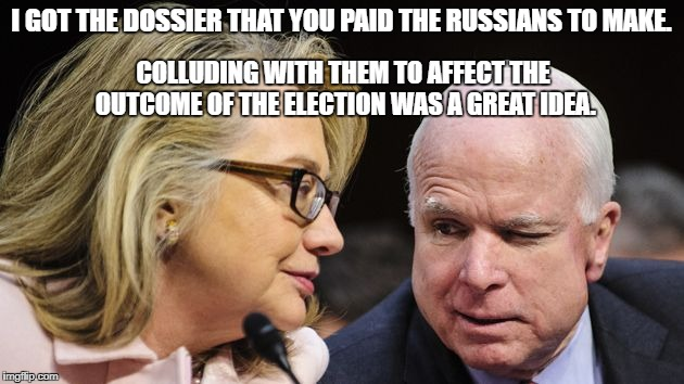 I GOT THE DOSSIER THAT YOU PAID THE RUSSIANS TO MAKE. COLLUDING WITH THEM TO AFFECT THE OUTCOME OF THE ELECTION WAS A GREAT IDEA. | image tagged in releasethememo,trumpshutdown | made w/ Imgflip meme maker