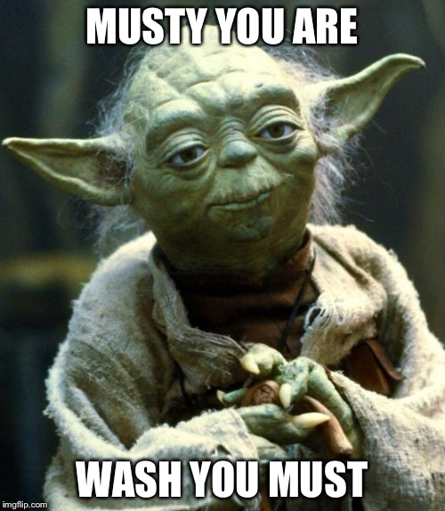 Star Wars Yoda Meme | MUSTY YOU ARE WASH YOU MUST | image tagged in memes,star wars yoda | made w/ Imgflip meme maker