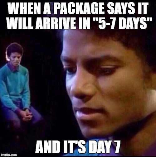 "Oh the suspense is killing me! | WHEN A PACKAGE SAYS IT WILL ARRIVE IN ""5-7 DAYS"" AND IT'S DAY 7 