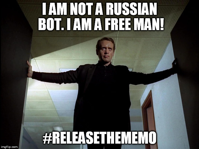 I AM NOT A RUSSIAN BOT. I AM A FREE MAN! #RELEASETHEMEMO | image tagged in prisoner | made w/ Imgflip meme maker