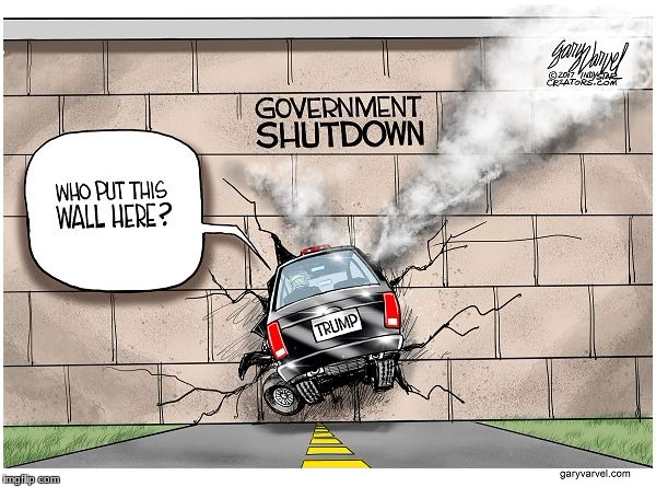 How long will it last???? | image tagged in political cartoon,government shutdown | made w/ Imgflip meme maker