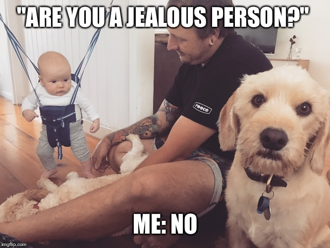 "Are you the jealous type | ""ARE YOU A JEALOUS PERSON?"" ME: NO 