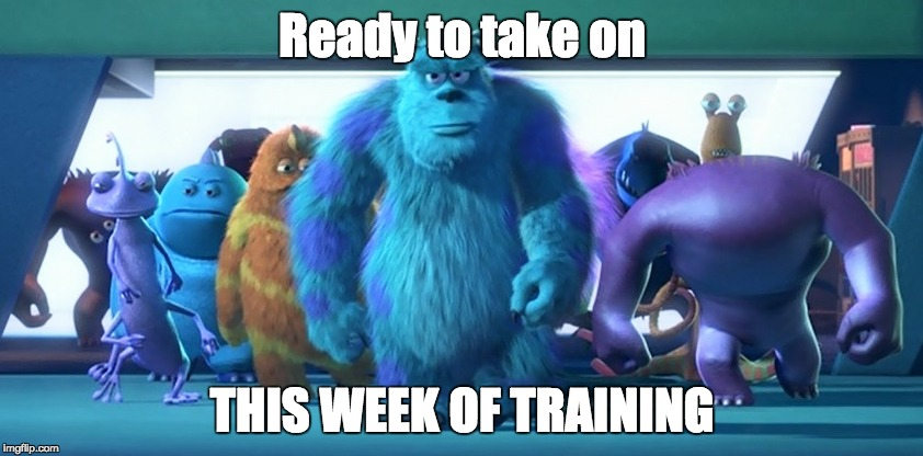 week of training | Ready to take on THIS WEEK OF TRAINING | image tagged in running | made w/ Imgflip meme maker