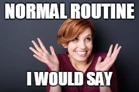 NORMAL ROUTINE I WOULD SAY | made w/ Imgflip meme maker