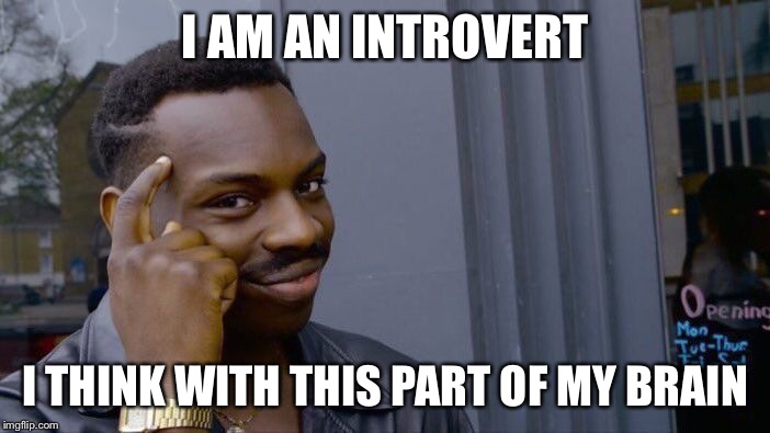 Roll Safe Think About It Meme | I AM AN INTROVERT I THINK WITH THIS PART OF MY BRAIN | image tagged in memes,roll safe think about it | made w/ Imgflip meme maker