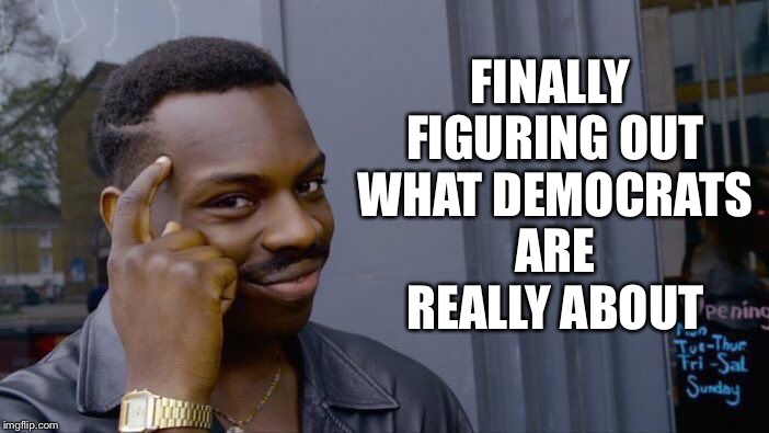 Roll Safe Think About It Meme | FINALLY FIGURING OUT WHAT DEMOCRATS ARE REALLY ABOUT | image tagged in memes,roll safe think about it | made w/ Imgflip meme maker
