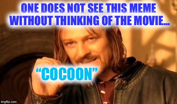 "One Does Not Simply Meme | ONE DOES NOT SEE THIS MEME WITHOUT THINKING OF THE MOVIE... ""COCOON"" 