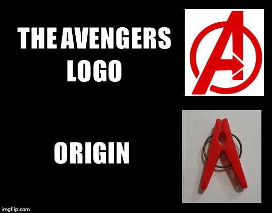 The Avengers Logo Origin | image tagged in robert downey jr iron man,iron man eye roll,iron man | made w/ Imgflip meme maker