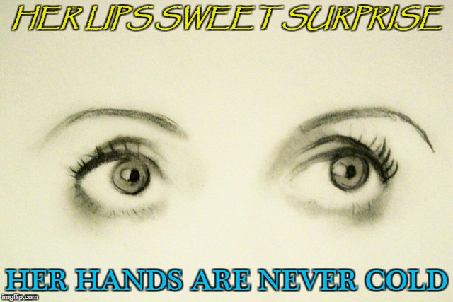 HER LIPS SWEET SURPRISE HER HANDS ARE NEVER COLD | made w/ Imgflip meme maker