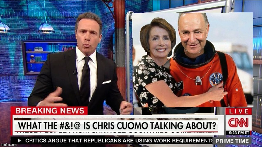 CNN Asteroid, Pelosi/Schumer Armageddon  | image tagged in cnn asteroid,nancy pelosi,chuck schumer,cnn,cnn fake news,cnn sucks | made w/ Imgflip meme maker