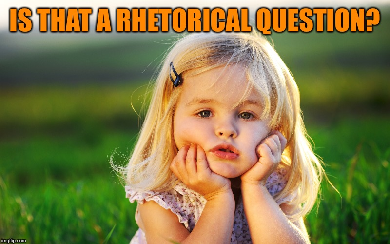 IS THAT A RHETORICAL QUESTION? | made w/ Imgflip meme maker