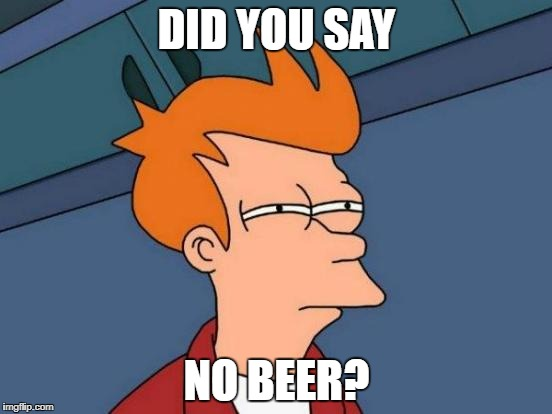 Futurama Fry Meme | DID YOU SAY NO BEER? | image tagged in memes,futurama fry | made w/ Imgflip meme maker