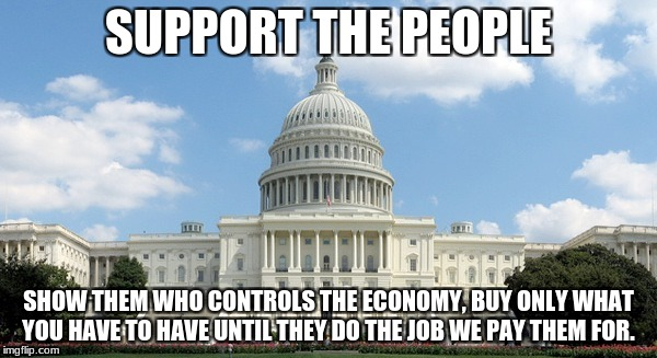 SUPPORT THE PEOPLE SHOW THEM WHO CONTROLS THE ECONOMY, BUY ONLY WHAT YOU HAVE TO HAVE UNTIL THEY DO THE JOB WE PAY THEM FOR. | image tagged in ugh congress | made w/ Imgflip meme maker