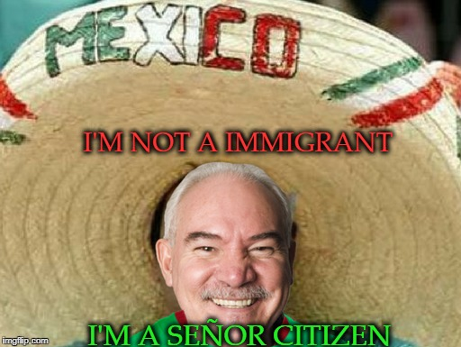 He is right you know  | I'M NOT A IMMIGRANT I'M A SEÑOR CITIZEN | image tagged in mexican word of the day,immigrant,senior center,old man,memes,funny | made w/ Imgflip meme maker