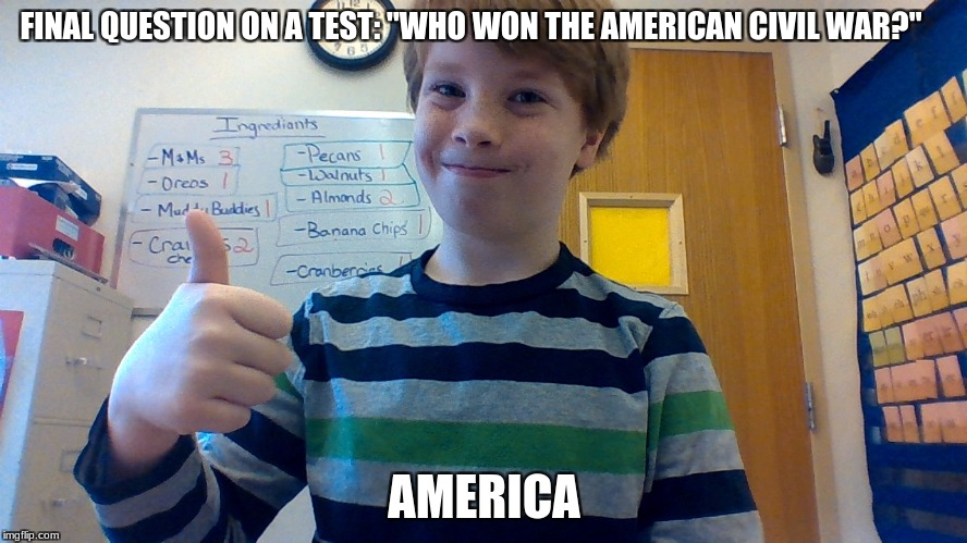 "A True Genius | FINAL QUESTION ON A TEST: ""WHO WON THE AMERICAN CIVIL WAR?"" AMERICA 