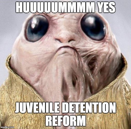 HUUUUUMMMM YES JUVENILE DETENTION REFORM | image tagged in old porg | made w/ Imgflip meme maker