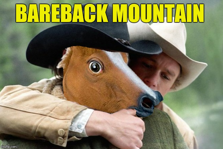 Still a better love story than Twilight | BAREBACK MOUNTAIN | image tagged in brokeback mountain,bareback mountain,still a better love story than twilight | made w/ Imgflip meme maker