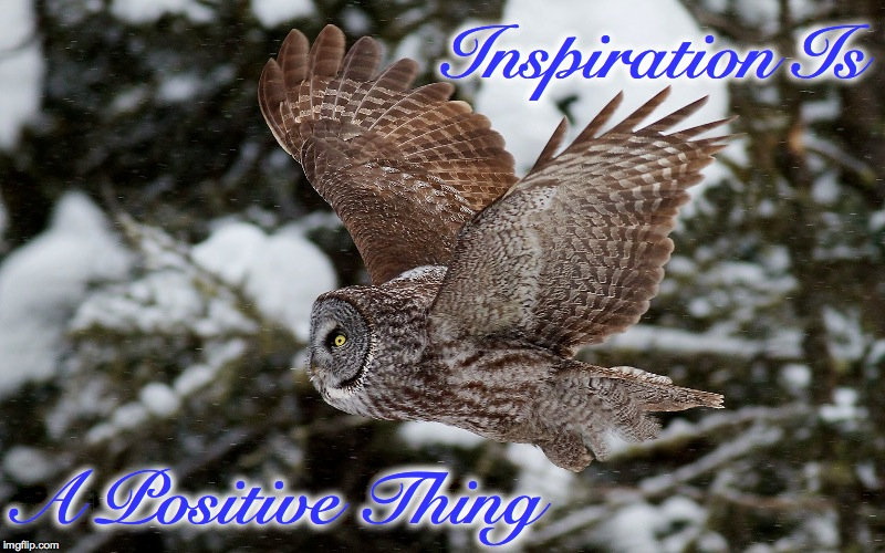 Inspiration Is A Positive Thing | made w/ Imgflip meme maker