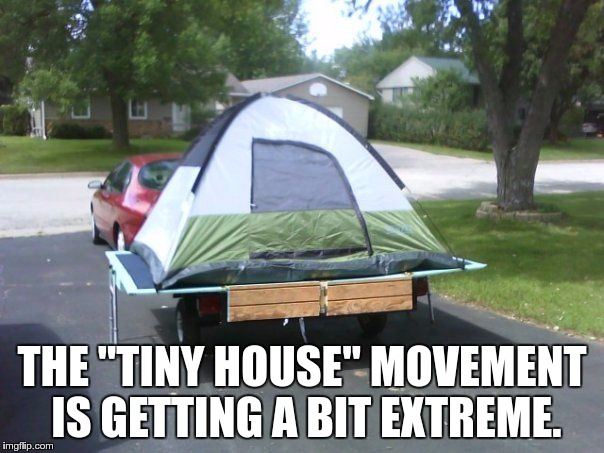 "THE ""TINY HOUSE"" MOVEMENT IS GETTING A BIT EXTREME. 