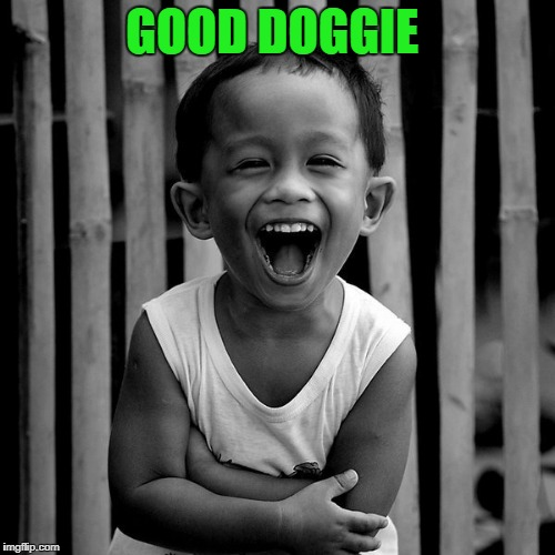 laughing face | GOOD DOGGIE | image tagged in laughing face | made w/ Imgflip meme maker