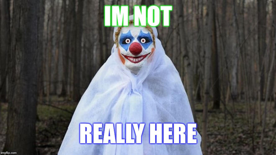 You are not seeing the big picture | IM NOT REALLY HERE | image tagged in blue eye clow clow,clown man,funny memes | made w/ Imgflip meme maker