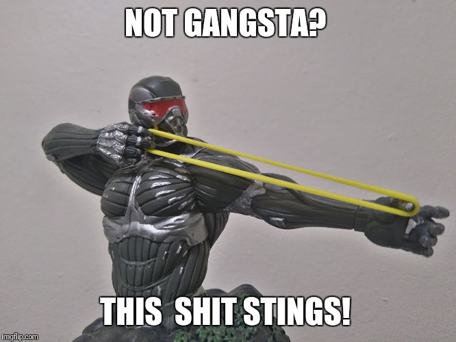 NOT GANGSTA? THIS  SHIT STINGS! | image tagged in prophet | made w/ Imgflip meme maker